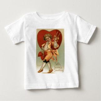 Vintage Retro Victorian Boy Hearts Valentine Card Tshirt