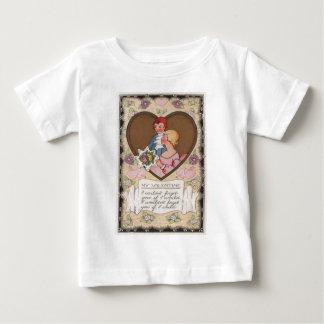 Vintage Retro Victorian Couple Hearts Valentine Ca T Shirt