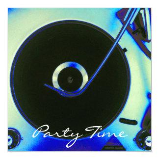 Vintage Retro Vinyl Record Player Invitation