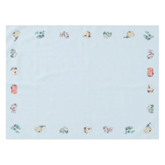 Vintage Retro Watercolor Camper Tablecloth
