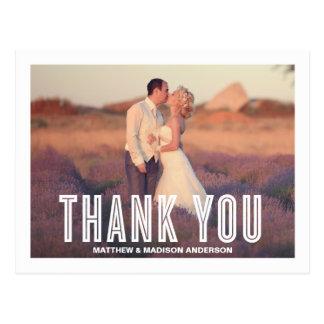 VINTAGE RETRO | WEDDING THANK YOU POST CARD