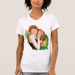 Vintage Retro Women 20s Deco Flapper Girl Pin Up T-shirts