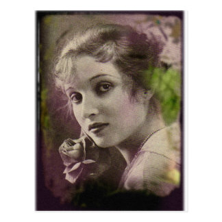 Vintage Retro Women 20s Hollywood Alice Joyce Postcard