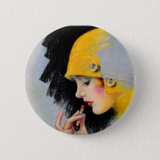 Vintage Retro Women 20s Hollywood Lipstick Girl 6 Cm Round Badge