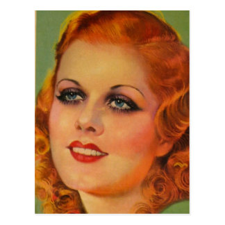 Vintage Retro Women 20s Movie Star Cover Girl Postcard