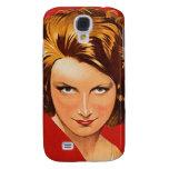 Vintage Retro Women 20s Woman's Portrait Samsung Galaxy S4 Cover