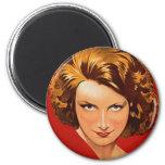 Vintage Retro Women 20s Woman's Portrait Refrigerator Magnet