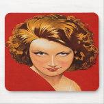 Vintage Retro Women 20s Woman's Portrait Mousepad