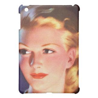 Vintage Retro Women 30s Woman's Ad Portrait iPad Mini Cover