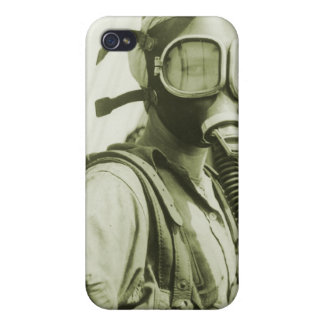 Vintage Retro Women 40s WW2 Military Gas Masks Cover For iPhone 4