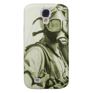 Vintage Retro Women 40s WW2 Military Gas Masks Galaxy S4 Case