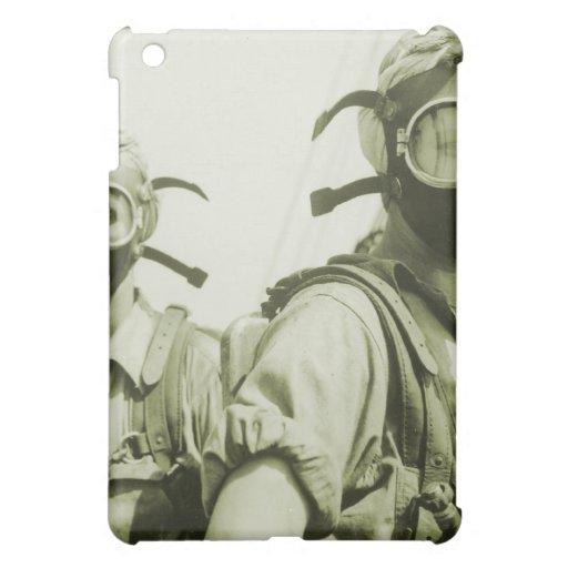 Vintage Retro Women 40s WW2 Military Gas Masks Case For The iPad Mini