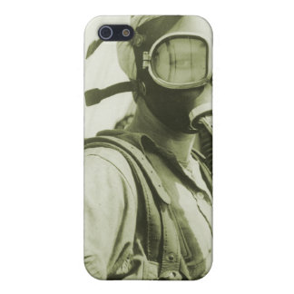 Vintage Retro Women 40s WW2 Military Gas Masks iPhone 5/5S Covers