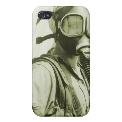 Vintage Retro Women 40s WW2 Military Gas Masks iPhone 4/4S Covers