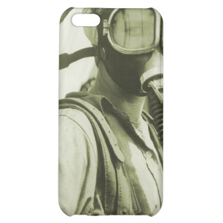 Vintage Retro Women 40s WW2 Military Gas Masks iPhone 5C Cover
