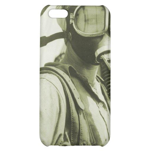 Vintage Retro Women 40s WW2 Military Gas Masks iPhone 5C Case