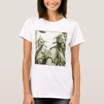 Vintage Retro Women 40s WW2 Military Gas Masks T-Shirt