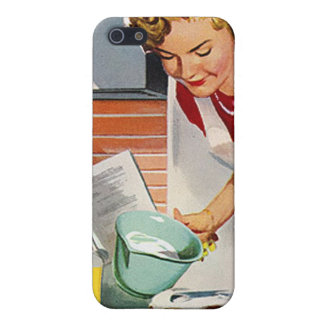 Vintage Retro Women Ad Let's Bake a Cake iPhone 5/5S Cases
