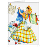 Vintage Retro Women Kitsch Laundry Day Cards