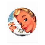 Vintage Retro Women Kitsch Soups Ready! Ad Post Cards