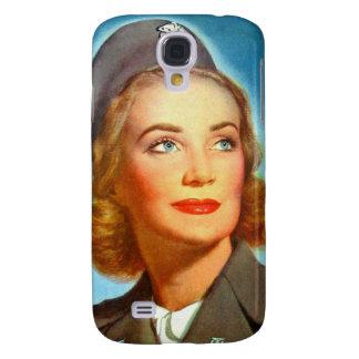 Vintage Retro Women Military U S Nurse Corp Galaxy S4 Covers