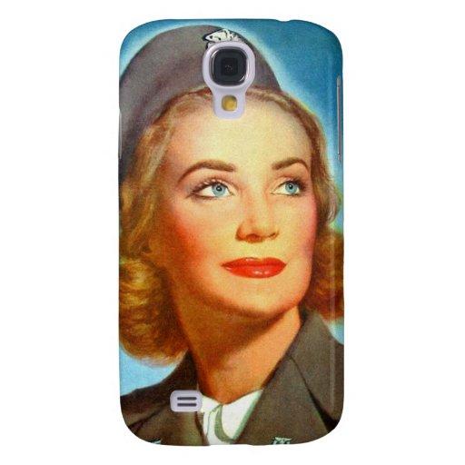 Vintage Retro Women Military U.S. Nurse Corp Galaxy S4 Covers