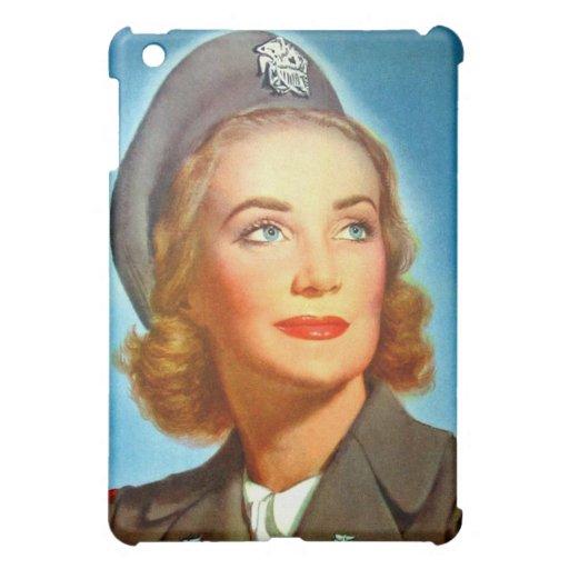 Vintage Retro Women Military U.S. Nurse Corp iPad Mini Covers