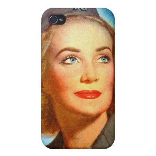 Vintage Retro Women Military U.S. Nurse Corp Cover For iPhone 4