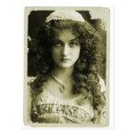 Vintage Retro Women Sepia Portrait 20s Woman Post Cards