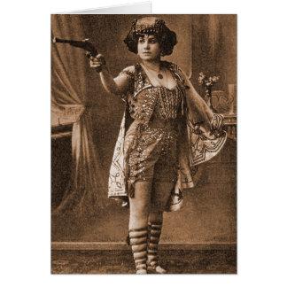 Vintage Retro Women Sideshow Elly De Sarto Card