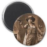 Vintage Retro Women Sideshow Elly De Sarto Refrigerator Magnets