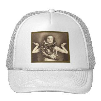 Vintage Retro Women Sideshow Snake Charmer Trucker Hat