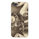 Vintage Retro Women Sideshow Snake Charmer iPhone 5 Covers