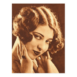 Vintage Retro Women Silent Film Star Post Card
