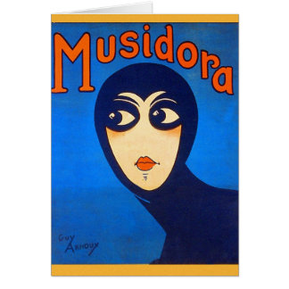 Vintage Retro Women Theater Musidora Jeanne Roques Card
