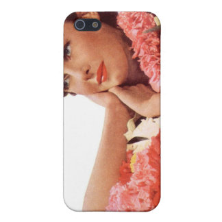 Vintage Retro Women Woman Hawaii Vacation iPhone 5 Cover