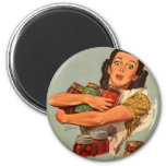 Vintage Retro Women WW2 Of Course I Can! Magnet