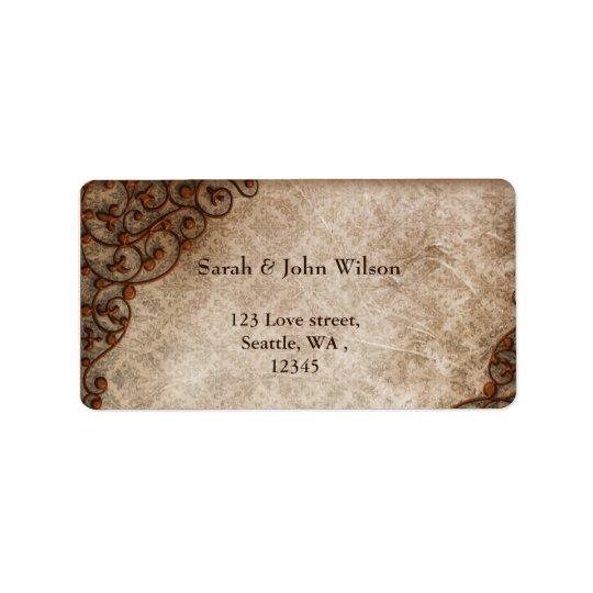 vintage, return address label