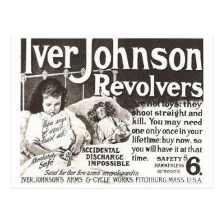Vintage Revolver Ad  Don't Try This At Home Postcard