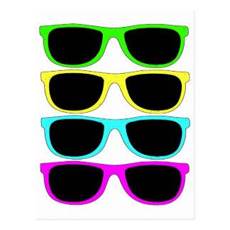 Vintage Rgb Fluo Sunglasses Postcards
