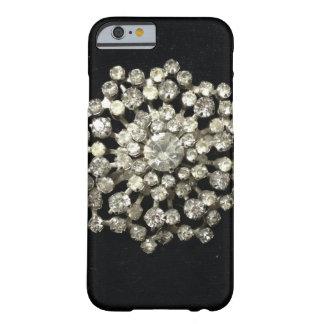 Vintage Rhinestones On Black Velvet Barely There iPhone 6 Case