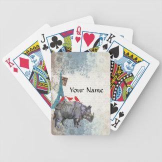 Vintage rhino bicycle playing cards