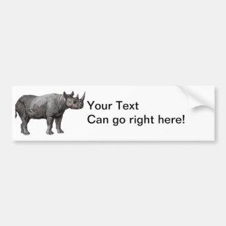 Vintage Rhino Bumper Sticker