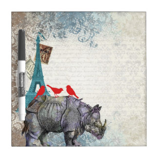 Vintage rhino dry erase board