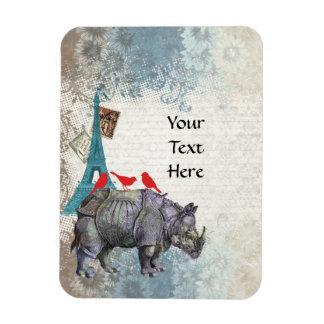 Vintage rhino magnet