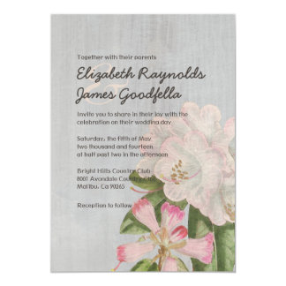 Vintage Rhododendron Wedding Invitations