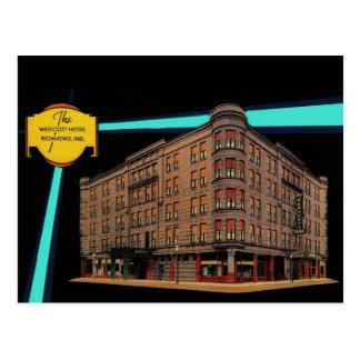 Vintage RICHMOND INDIANA Westcott Hotel Razed 1977 Postcard