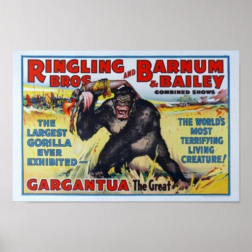 Vintage Ringling Bros. Poster