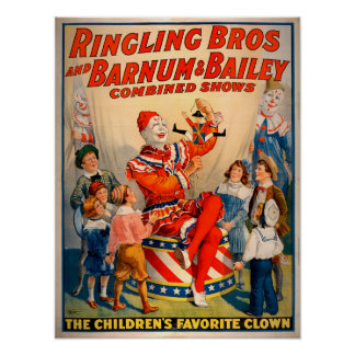 Vintage Ringling Brothers Combined Shows Poster