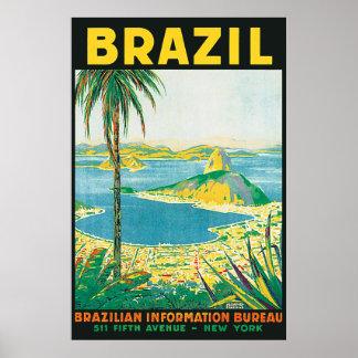 Vintage Rio Brazil Travel Poster